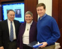 Zac Brown was given the Intern of the Year Award by UK's Stuckert Center.